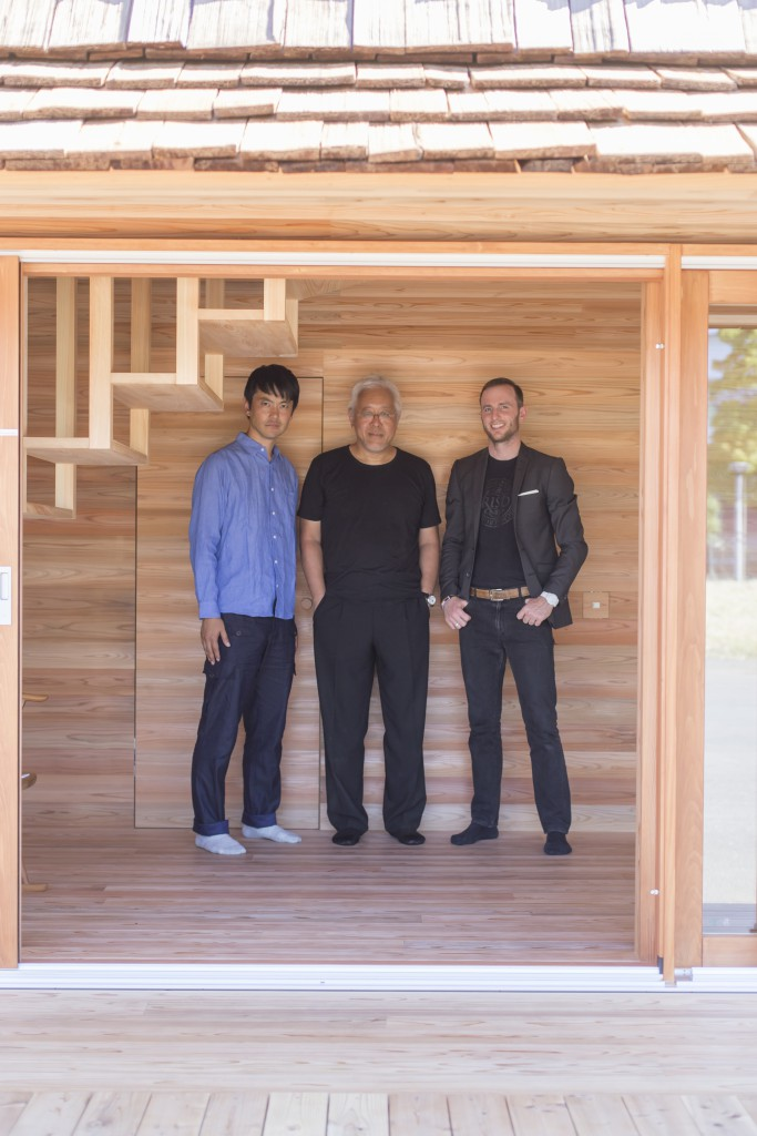 From left: Go Hasegawa, Kenya Hara , and Joe Gebbia
