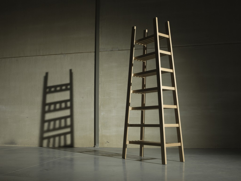 The Ladder Rek by Casimir is both a furniture, a storage unit and a poetic piece of art which plays with light and shadows. You may see the 'tree of life' through it!