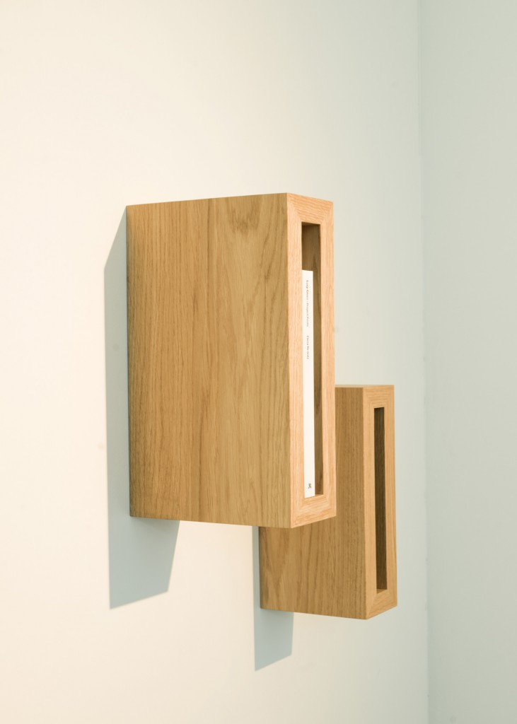Plank 2 by Casimir is certainly one of the most minimalistic cabinet made for a few valuable books and in solid oak to last forever
