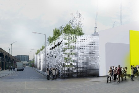 Super façade structure by Satellite Architects for designjunction, King's Cross © Satellite Architects