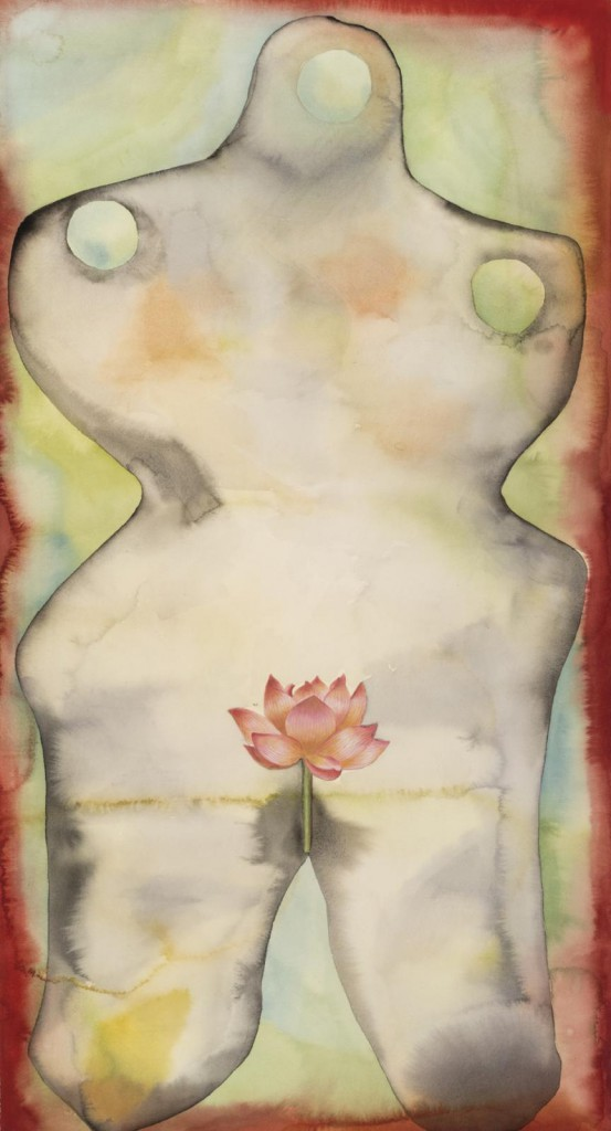 "Jablonka Maruani Mercier Gallery presents Francesco Clemente. Image: Francesco Clemente, ""Talismans n°2"", 2016. Watercolour on paper: 113 x 61 cm."