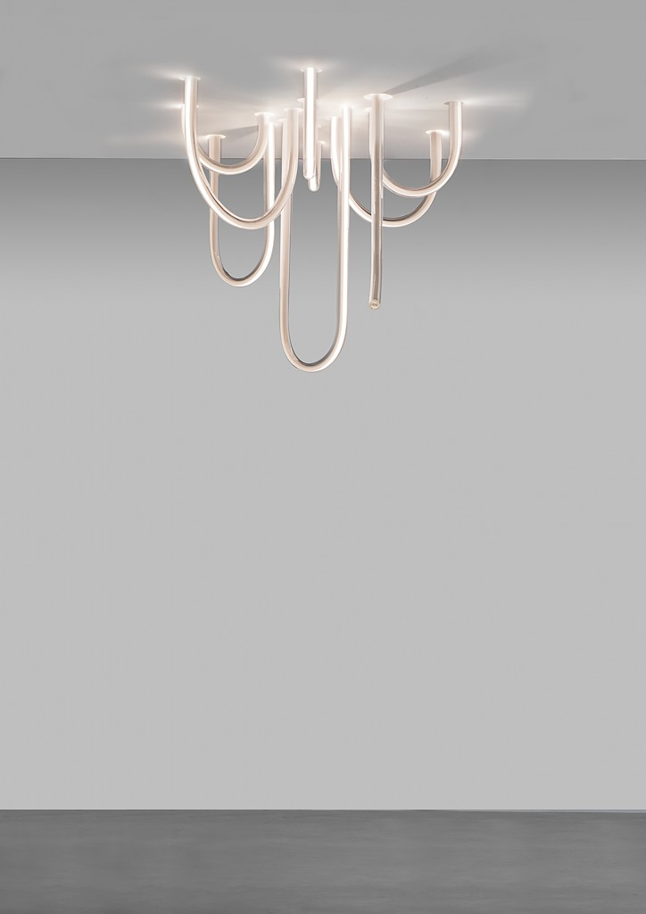 Mathieu Lehanneur - Les Cordes (CWG Standard), 2016.  Glass, Flex LED, H95 L120 W140 cm / H37.4 L47.2 W55.1 in.  Limited Edition of 8 + 4 AP.
