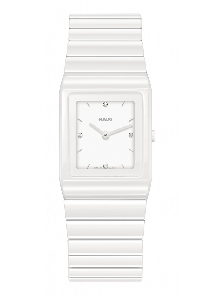 The white glossy Ceramica watch for women