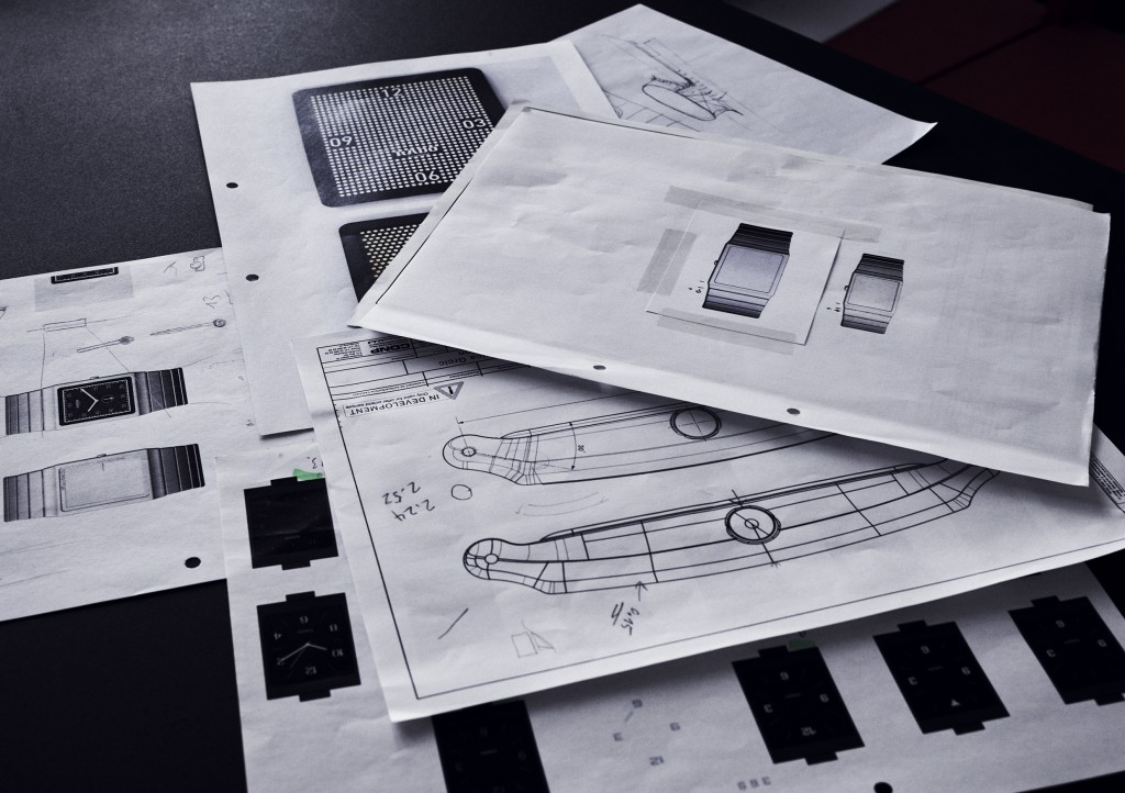 Grcic's design process and drawings for the New Rado Ceramica