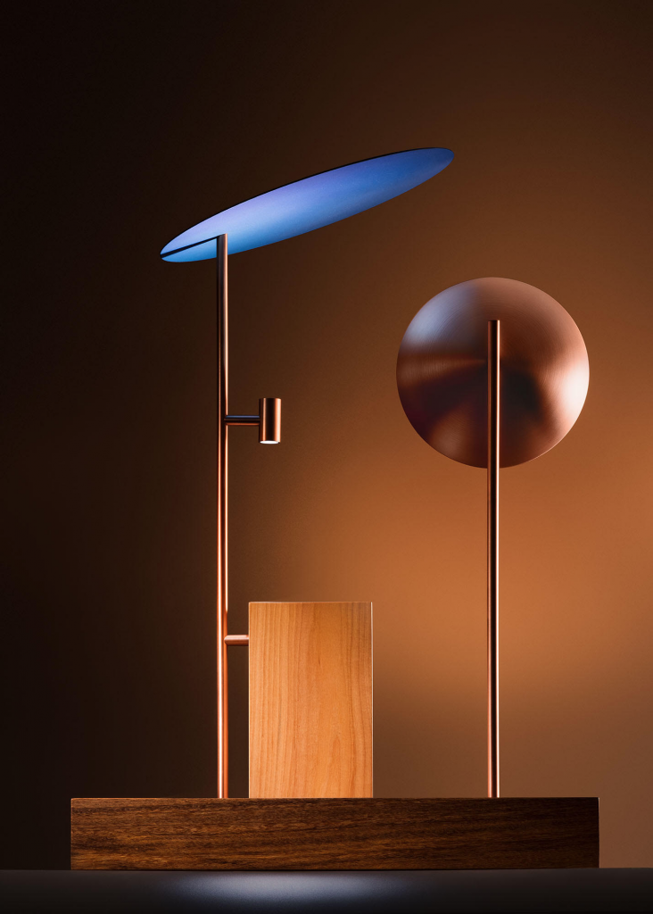 LP table lamp, as part of the Sintonia Fina collection