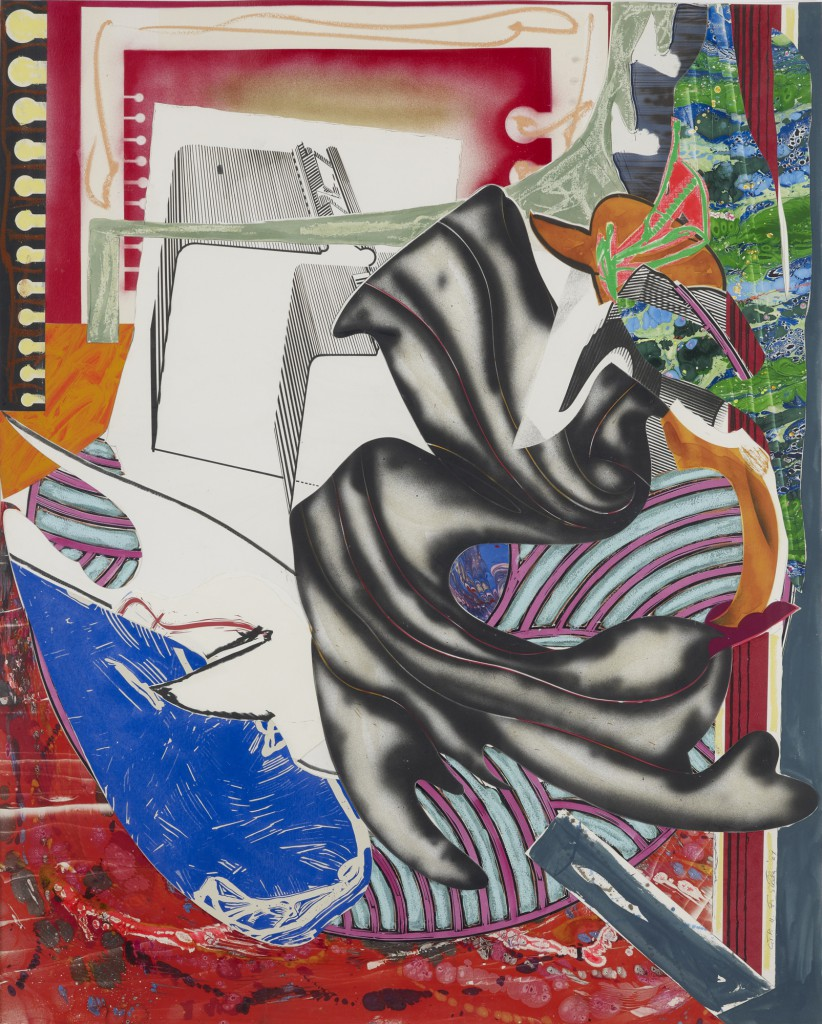 "Keitelman Gallery presents Frank Stella: ""From the line to the line"". Image: Frank Stella, ""Moby Dick, C.T.P II"", 1989. Acrylic, vinyl paint and various media on collaged paper: 171 x 139 cm."