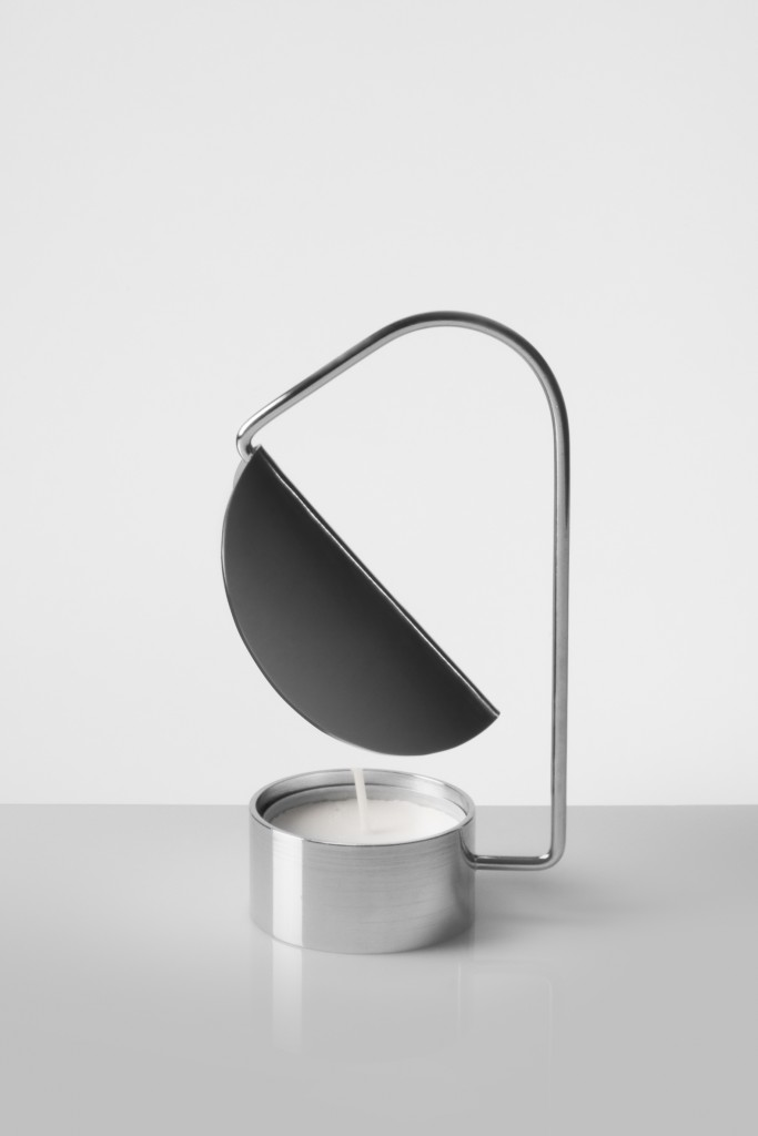 Tomas Kral (CH), Candle Holder, silver plated metal, cm 12H x 7W x 6D, 2012. ©Martin Haldimann