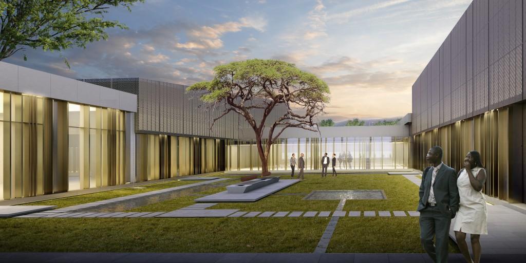 avciarchitects_congo_kintele_congress_hall_courtyard