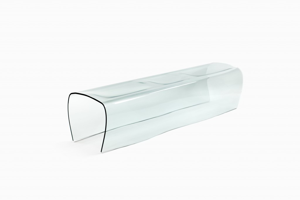 """Bent Glass"" bench by Naoto Fukasawa for Glas Italia"