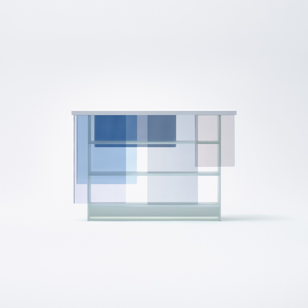 """Layers"" cabinet by Nendo for Glas Italia"