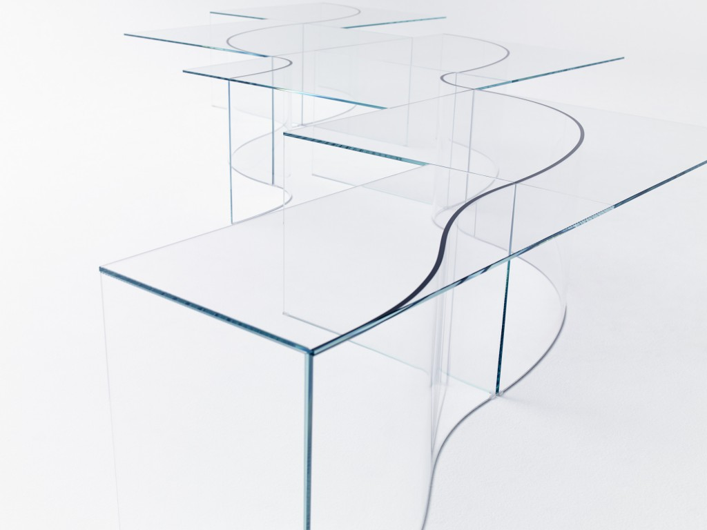 """Path"" low tables by Nendo for Glas Italia"