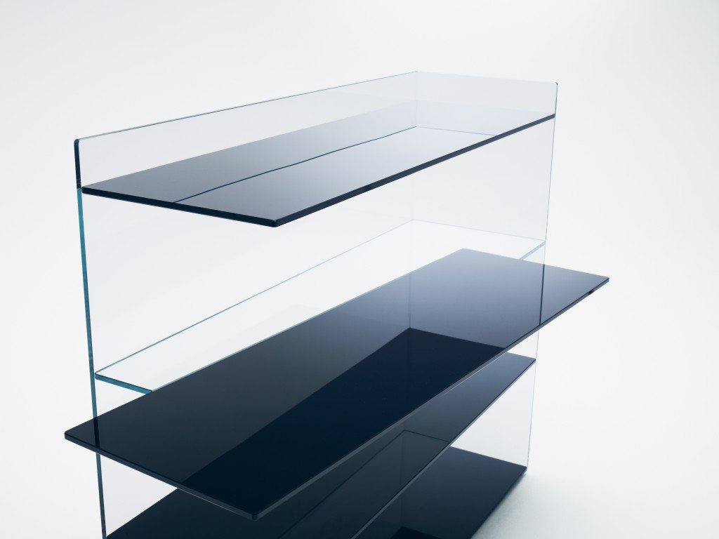 """Slide"" shelf by Nendo for Glas Italia"