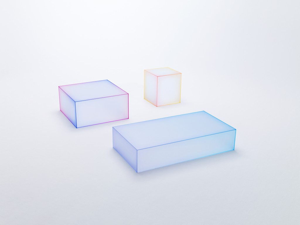 """Soft"" low tables by Nendo for Glas Italia"