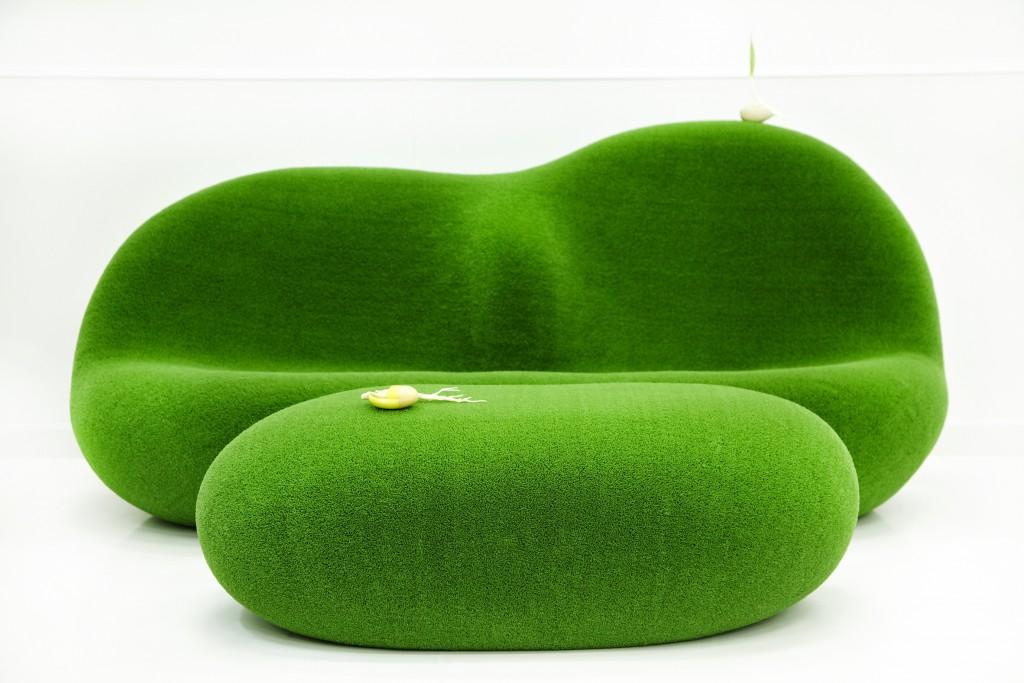 Botanical Sofa and Table by Azuma Makoto