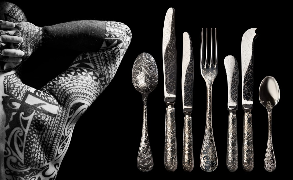 Jardin d'Eden cutlery for Christofle