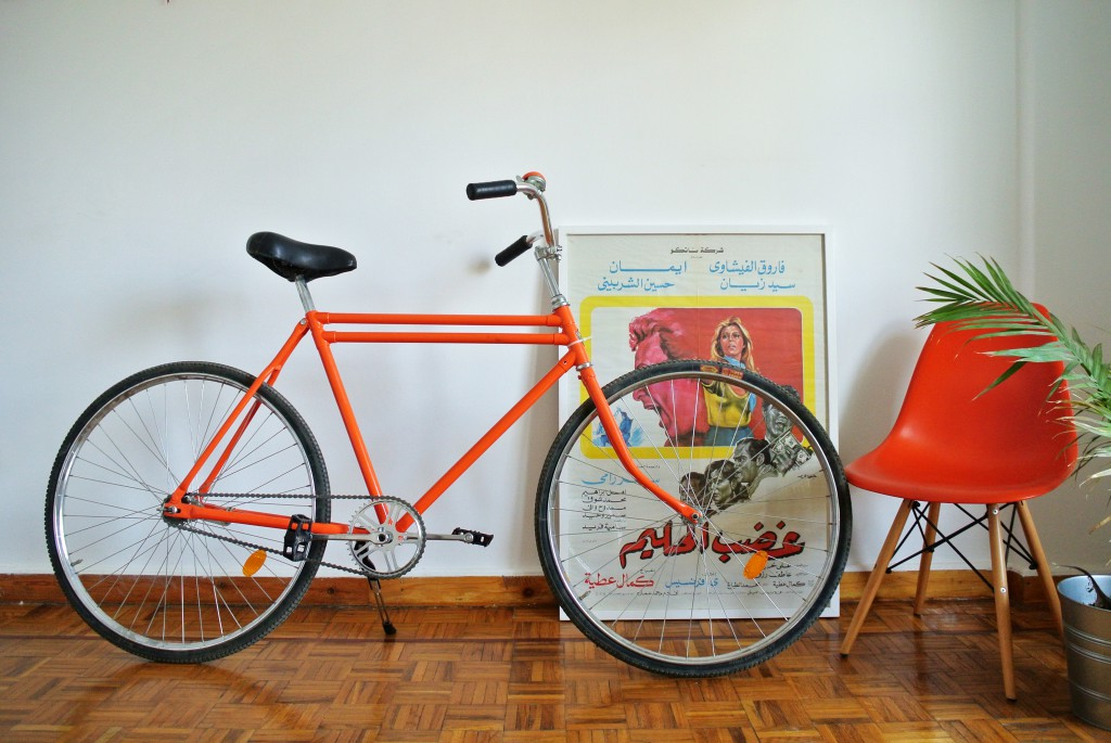 Ain Bicycles epitomise Egyptian innovation and resourcefulness. Brightly coloured, single-speed bikes are customized at a workshop that doubles as a cyclists' community centre, with locally sourced frames and camel leather seats from a tannery near The Pyramids.