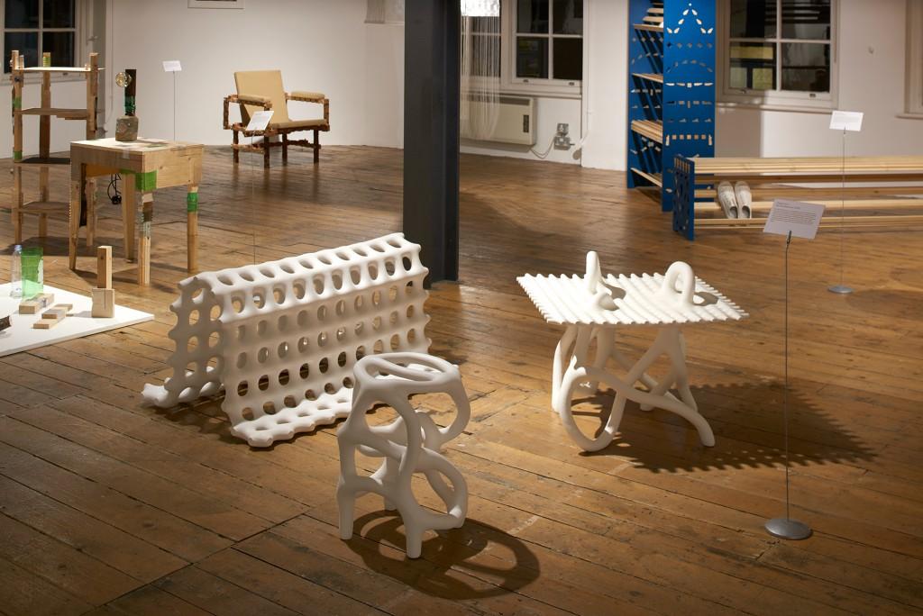 Hot Wire Extensions (2016), Studio Ilio. Installation shot at Joints + Bones. Photo: Sylvain Deleu