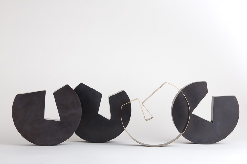 Four Bowls by Juliette Bigley, who explores how we negotiate our physical and emotional place in the world with sculptural vessels. Photo: Odi Caspi