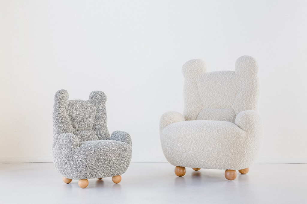 Papa and Baby Bear chairs by Pierre Yovanovitch