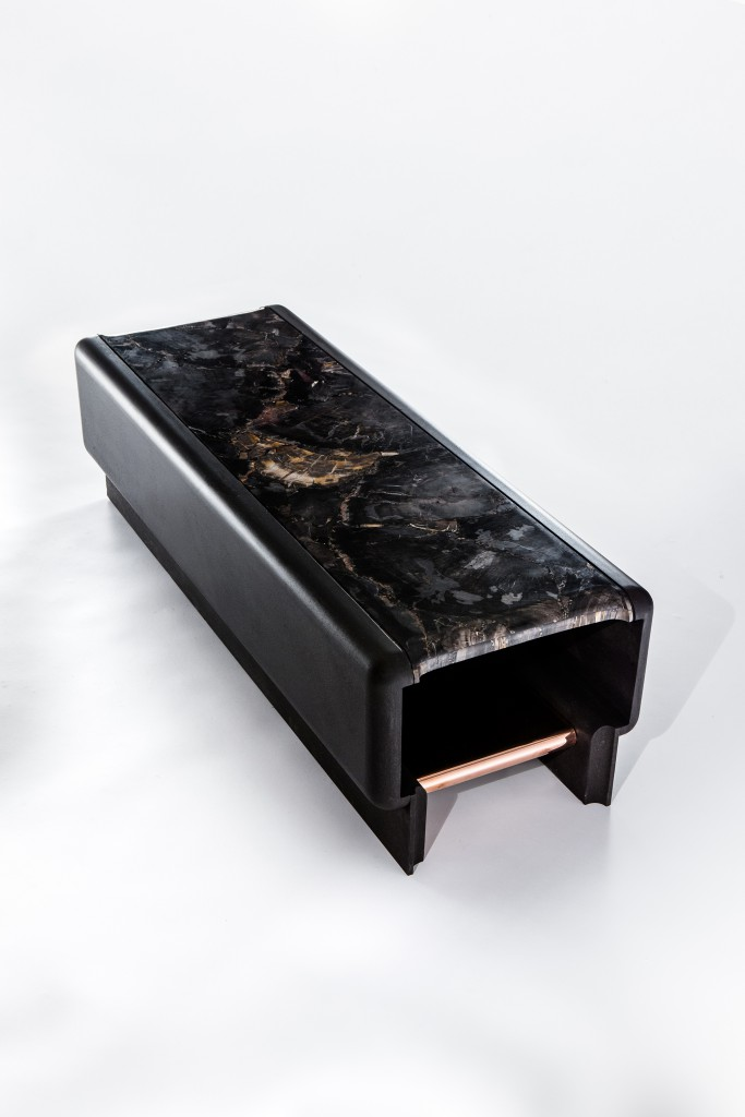 Coffee table in lava by Thierry Lemaire