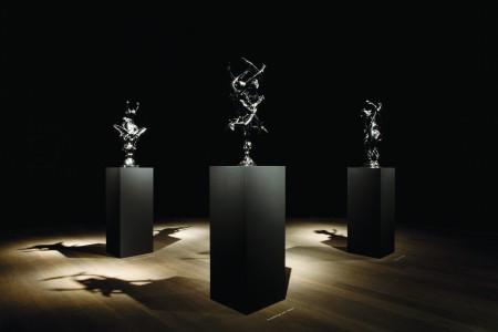 La Lune Rorschach,Mercury Rorschach, 2012, patinated bronze,   Courtesy Studio Wim Delvoye, Belgique. Photo: Studio Wim Delvoye, Belgique © Adagp, Paris 2016 / Wim Delvoye
