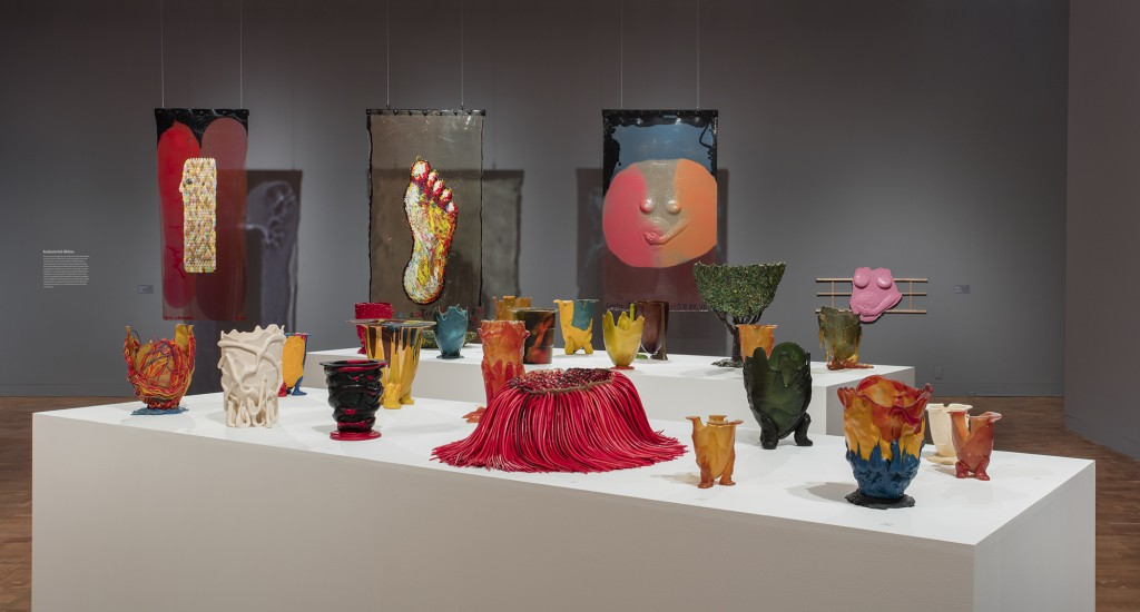 Installation view of Gaetano Pesce's Cast-Resin Objects at Los Angeles Museum of Contemporary Art.