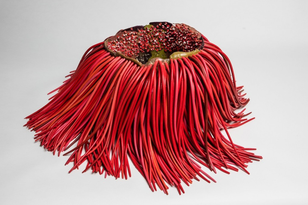 Vase With Hair (2015) at Los Angeles Museum of Contemporary Art. Photo: Sebastian Piras/Gaetano Pesce.