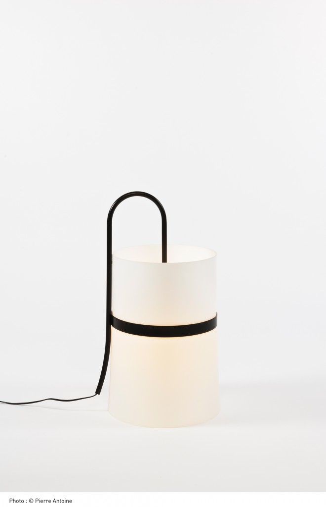Desa lacquered steel and opaline glass lamp with Joachim Jirou-Najou for Ligne Roset (2010). Photo: Pierre Antoine