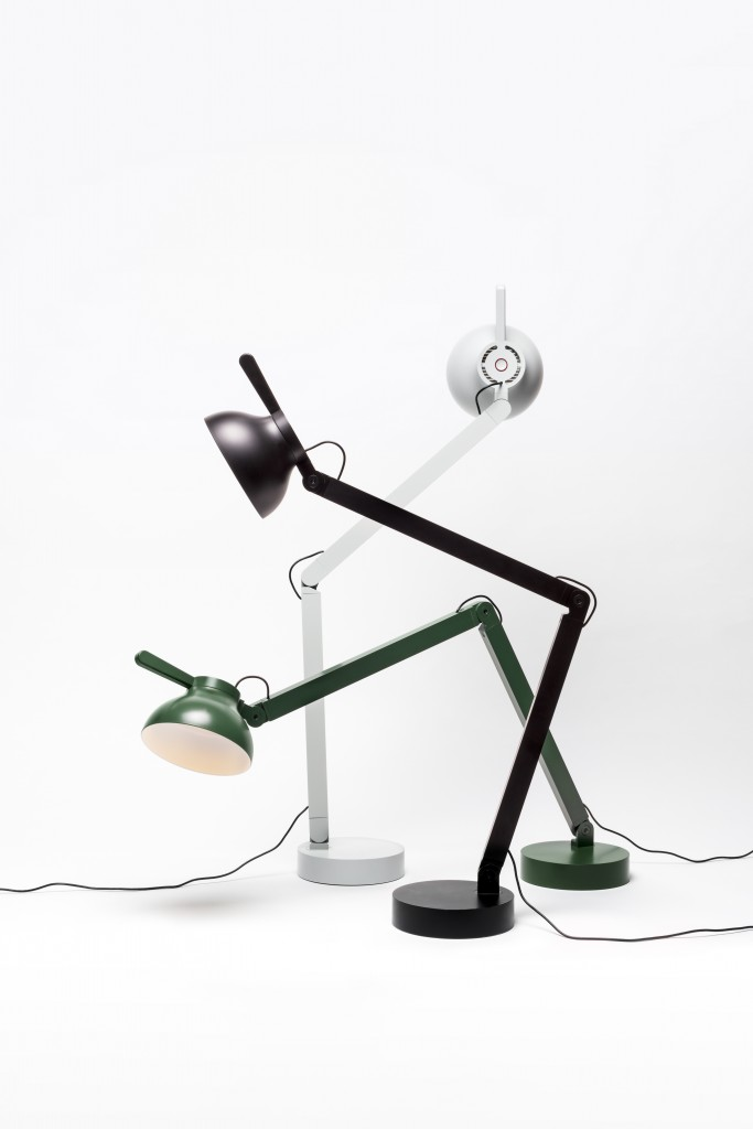 PC Lamp of aluminium, steel PC and silicon with Mathieu Peyroulet Ghilini for Wrong (2016). Photo: Pierre Antoine