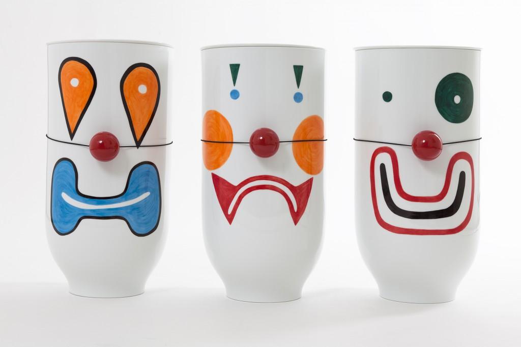 Kiko, Pipo and Alex enamelled porcelain vases with Mathieu Peyroulet Ghilini for Galerie Kreo (2015). Photo: Sylvie Chan Liat