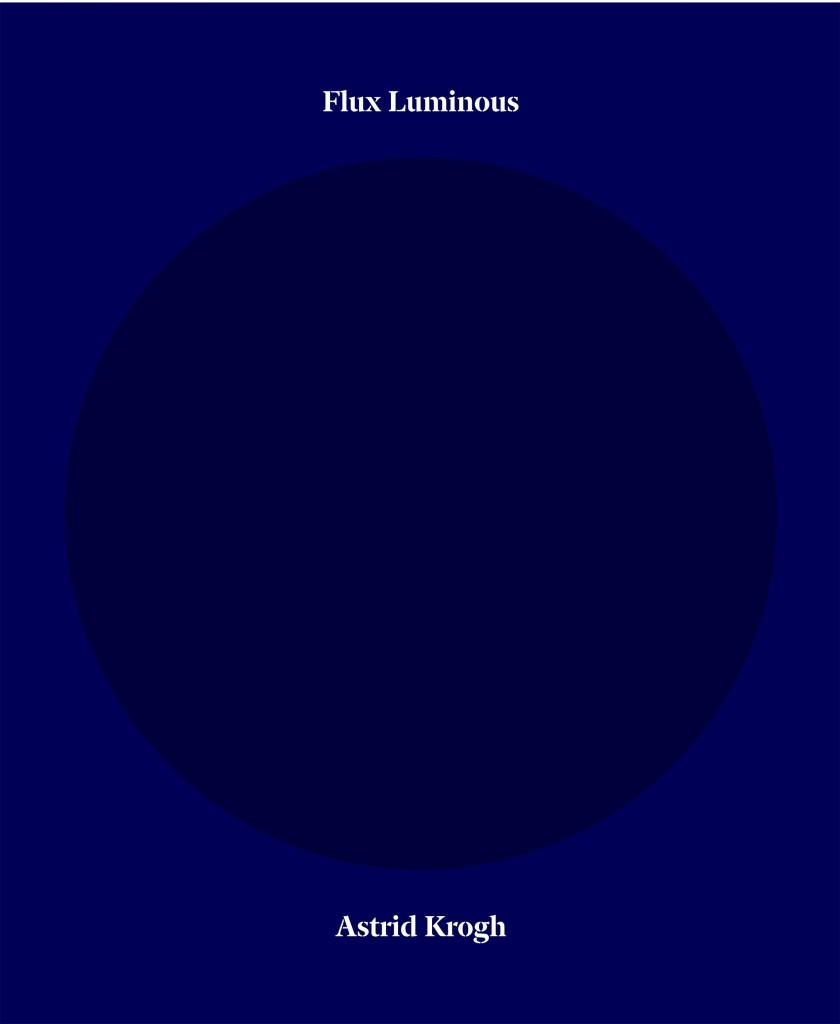 Book cover of Flux Luminous