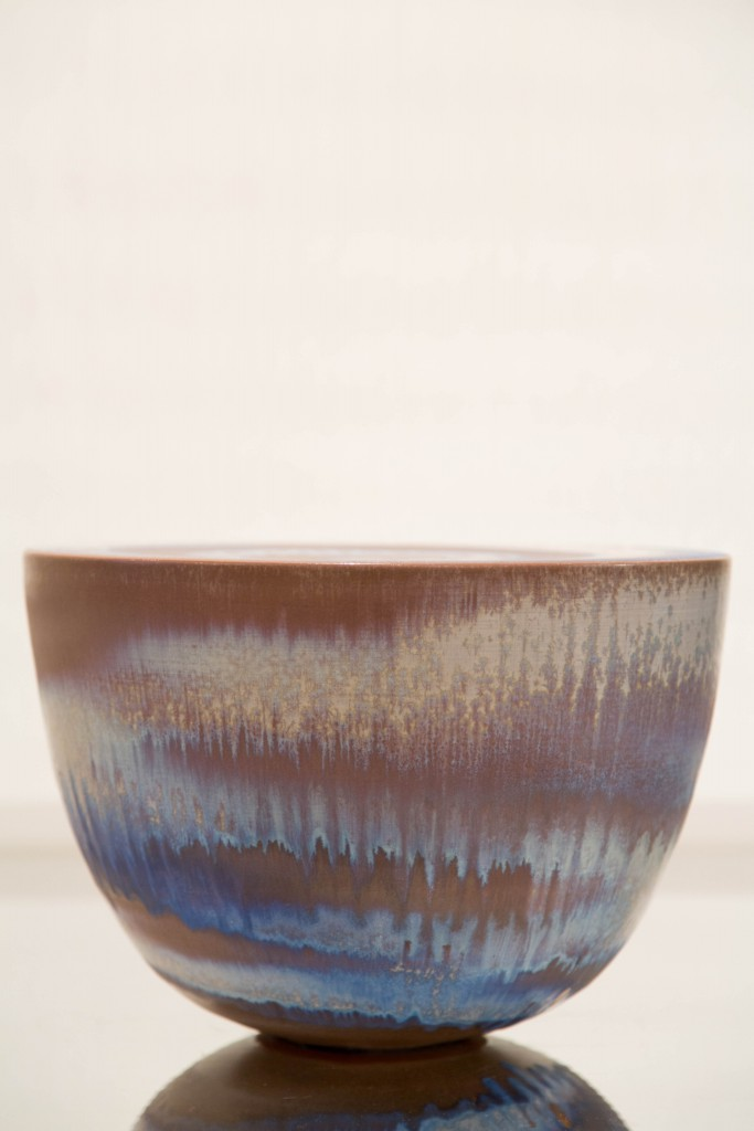 Pot bleu clair: dimensions: 25 x 36 cm / 1980