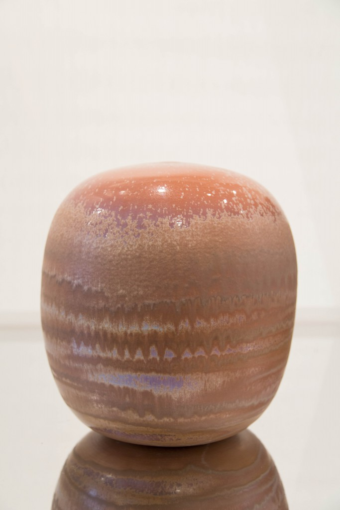 Haut pot saumon : dimensions 35 x 100 cm/1980