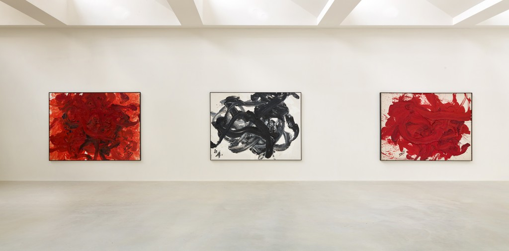 Installation view of Kazuo Shiraga retrospective. Photo: Jan Liégeois