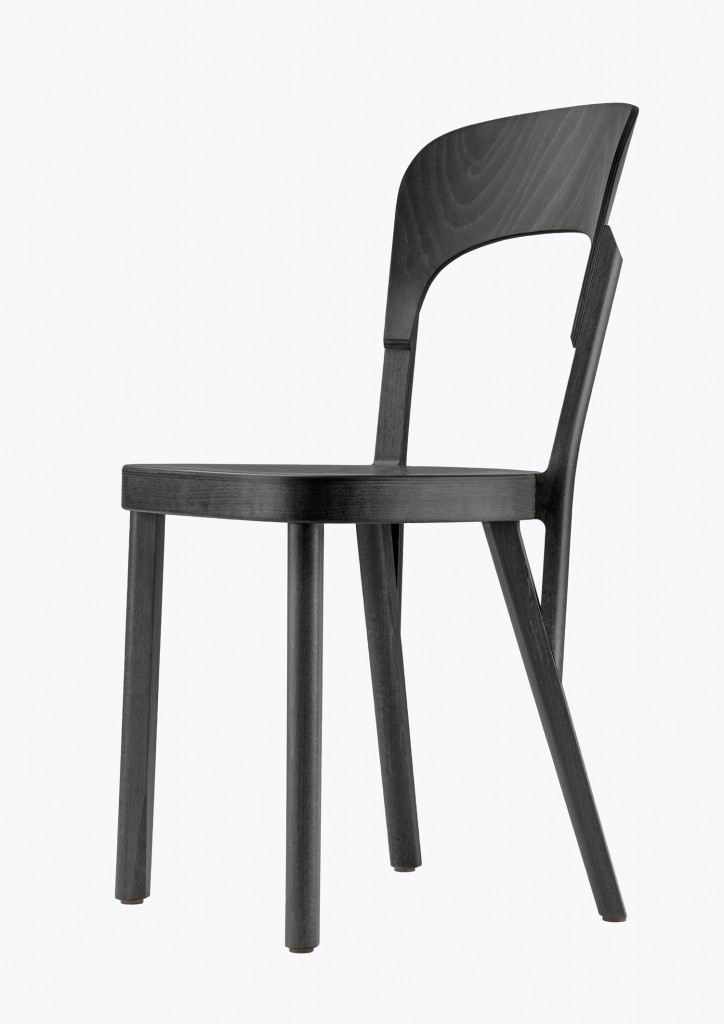 Thonet 107, 2011, beechwood, 84,5 x 41,5 x 45 cm, courtesy of the designer and Thonet, photo: Constantin Meyer