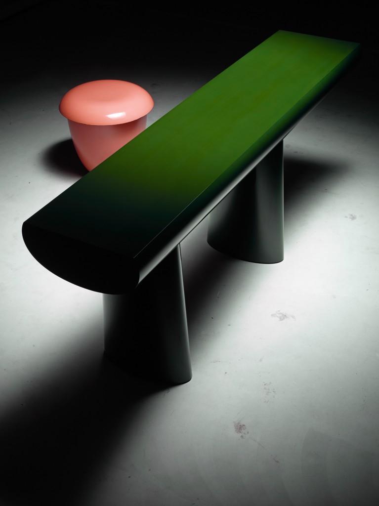 Green Table and Pink Stool 2015. Photo: Erik & Petra Hesmerg