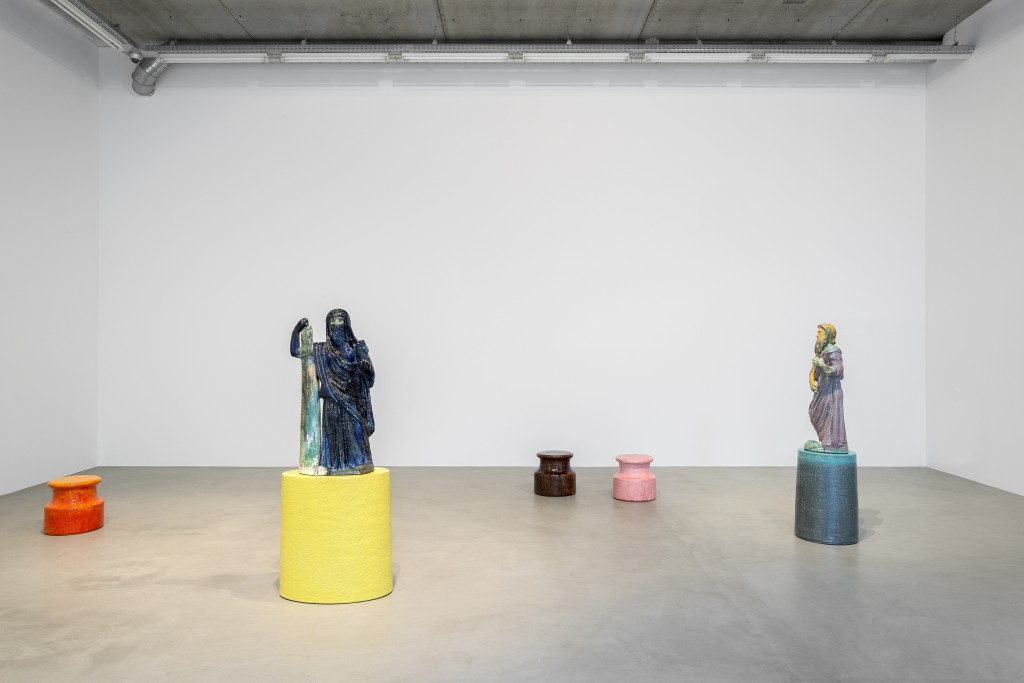 Installation view 8 Gods by Johan Creten.
