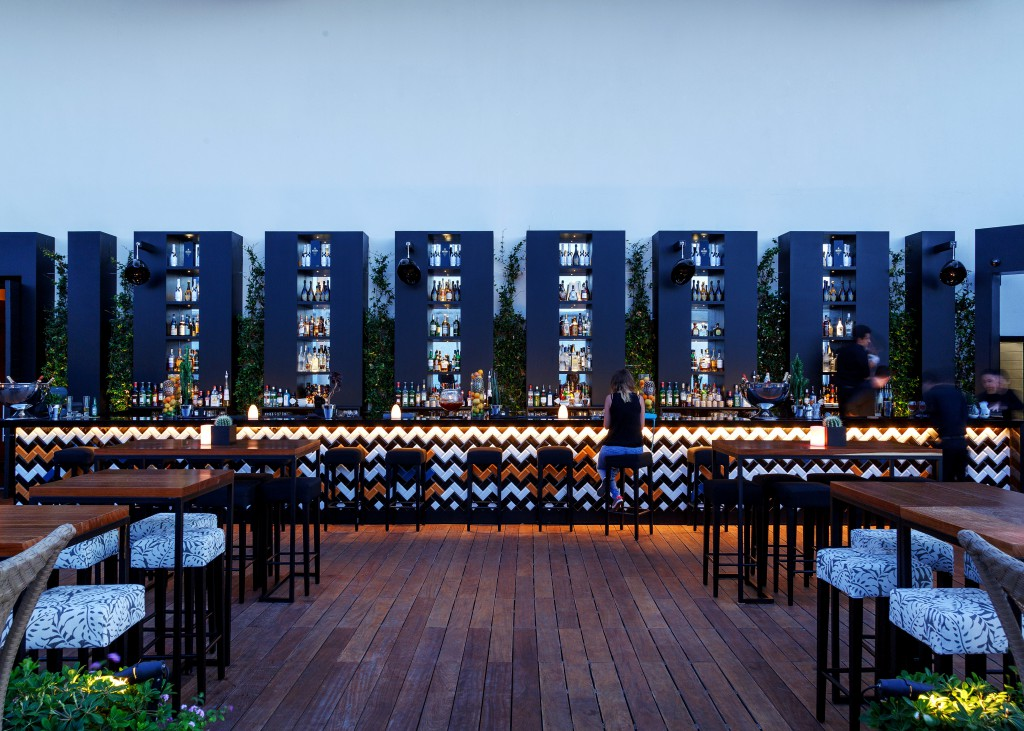 The Pop-Up Lounge Bar at the rooftop of the Four Seasons Hotel. Photo: Tony Elieh