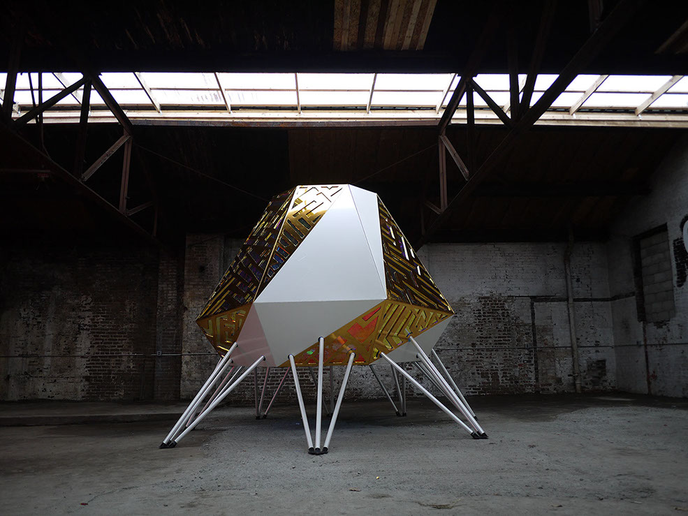 The Mothership at Out of Site, 2014, by Anya Sirota and Jean Louis Farges. Photo: Akoaki