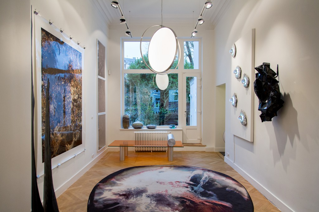 Installation view of Crystallized exhibition at Spazio Nobile.