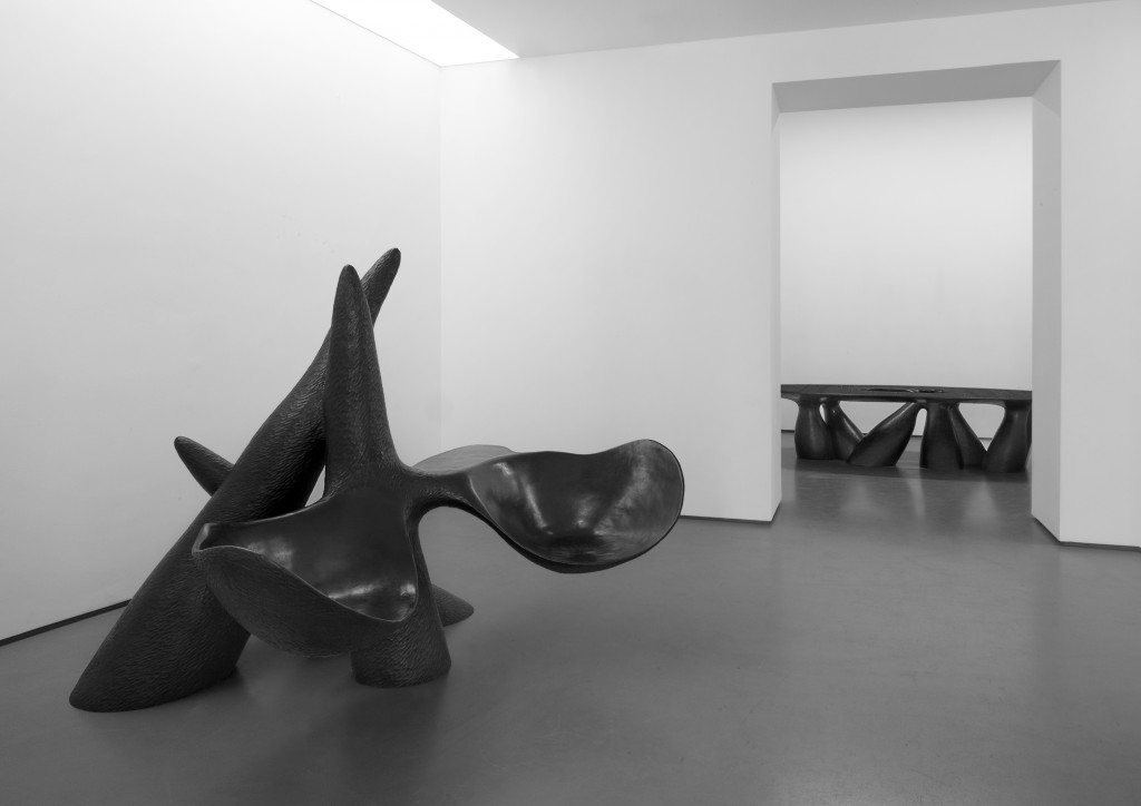 Installation view of Planting Seeds at the Carpenters Workshop Gallery in Paris until May 6