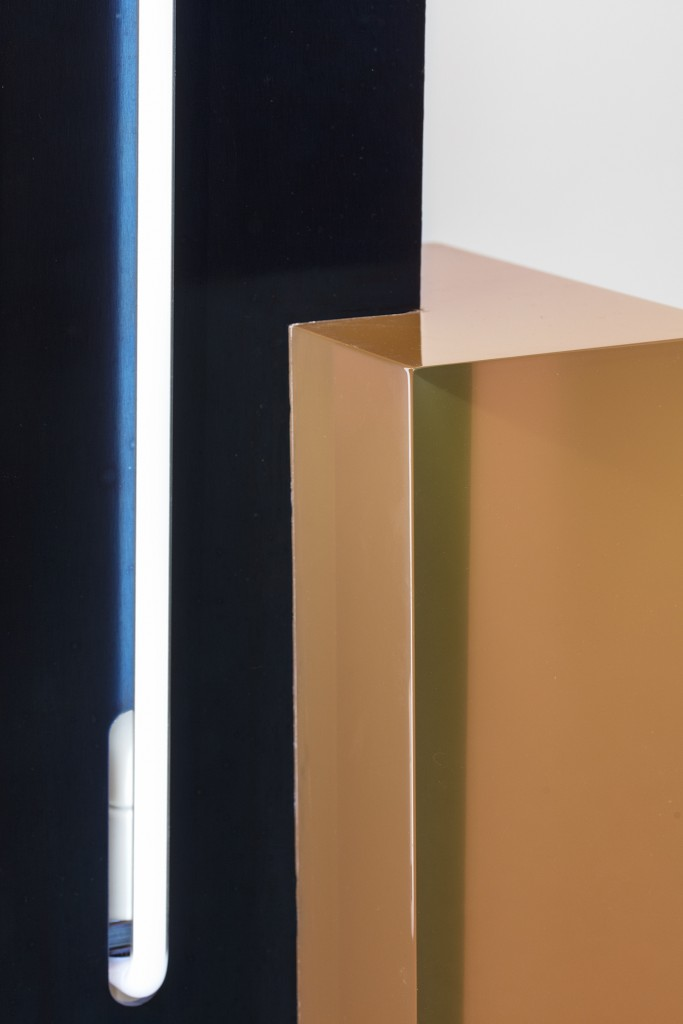 'EQUALS' standing light by Sabine Marcelis, Cast polished resin, tempered waxed steel, 40h x 31w x 31d in.