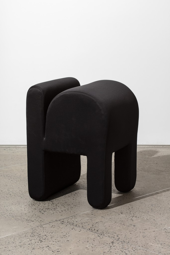 Soft Pavilion #2 (Chair) by Ania Jaworska, Wood Frame, Memory Foam, Foam Padding, Neoprene Fabric, 28h x 20w x 20d in.