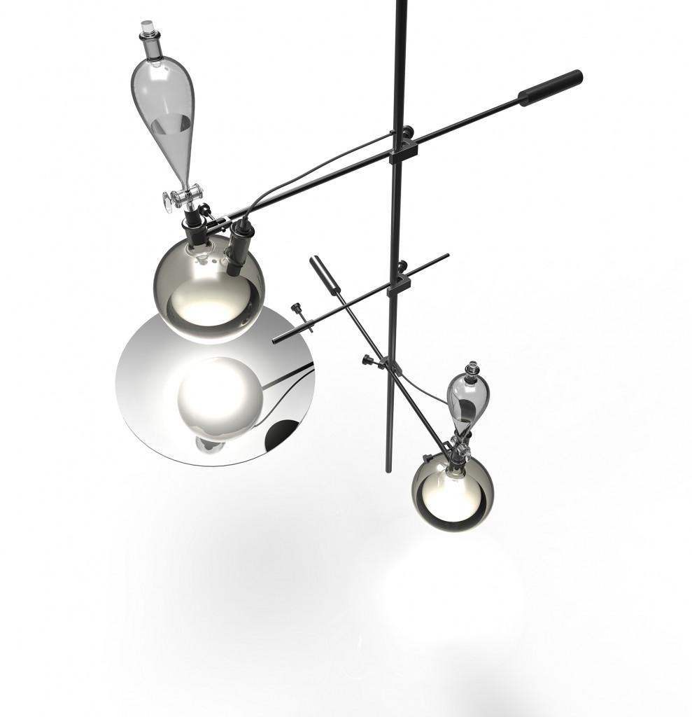 Fluid lamp by Nao Tamura