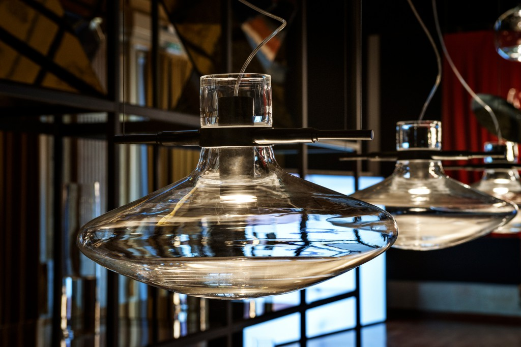 Detail of Fluid Collection by Nao Tamura at installation during Milan Design Week