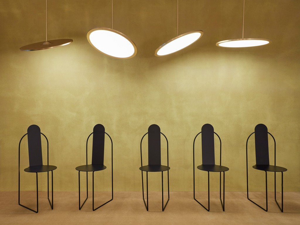Nix Pendant Lights and Pudica Chairs by Pedro Paulo Venzon