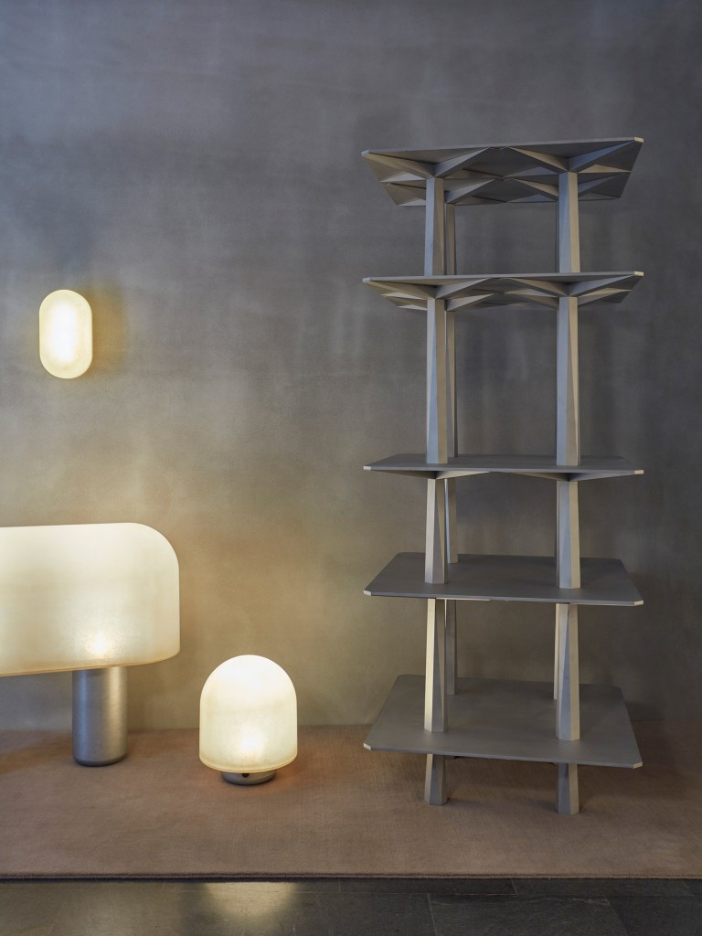 Puff Ball Lights by Faye Toogoode and Centina totem by Oeuffice