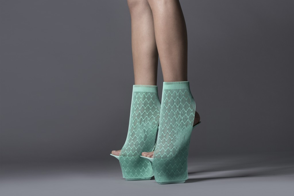 Ilabo Shoes (2015) 3D printed from nylon for United Nude. Photo: United Nude