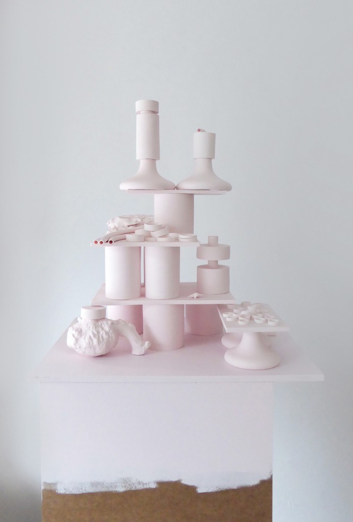 Pink platform, 2015, bone china, courtesy Officine Saffi