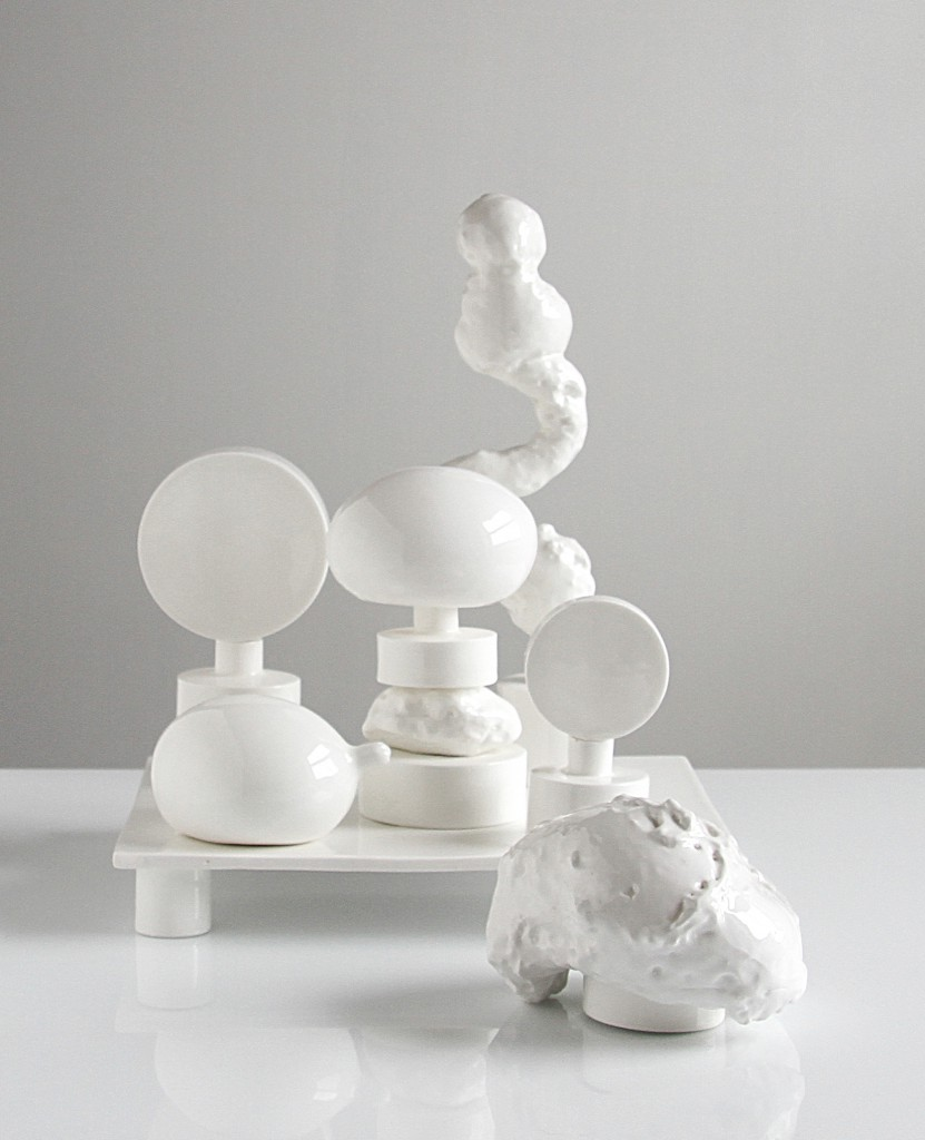 White platform, 2013 – 2017, bone china, courtesy Officine Saffi